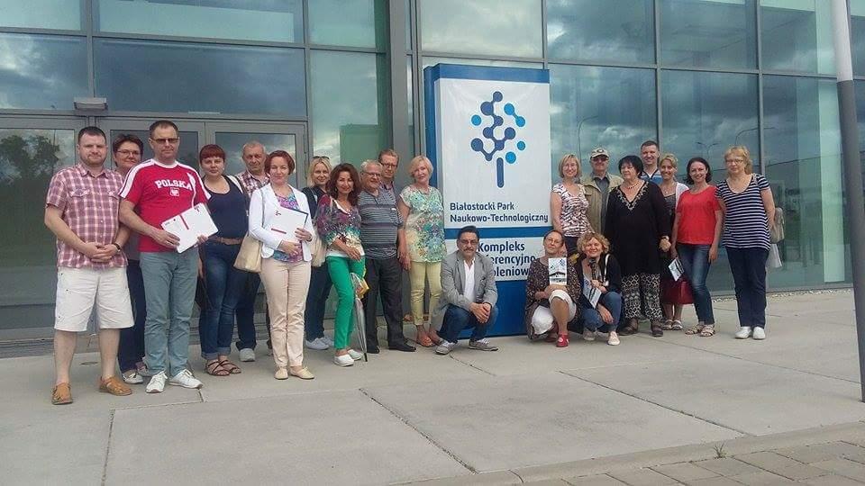 Delegacja przedstawicieli białoruskich organizacji pozarządowych w województwie podlaskim